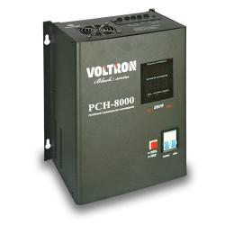 Voltron РСН-8000 Black Series навесного типа, релейный стабилизатор напряжения 8 кВА, однофазный 220В