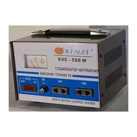 Wusley SVC-500W Электромеханический стабилизатор напряжения 500 ВА, однофазный 220В